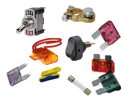 Fuses, Switches, Battery Terminals